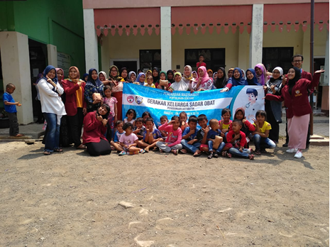 Penyuluhan Tentang Gerakan Keluarga Sadar Obat dalam Penggunaan Antibiotik di Kampung Tembong Gunung RT 010 RW 005 Desa Sukamahi Kecamatan Cikarang Pusat Kabupaten Bekasi